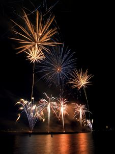 Fireworks Festival, Singapore Stock Images