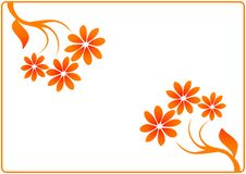 Free Minimal Floral Frame Royalty Free Stock Photos - 3959768