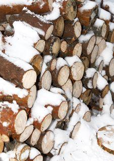 Free Woodpiles Under Snow Royalty Free Stock Photos - 3959808