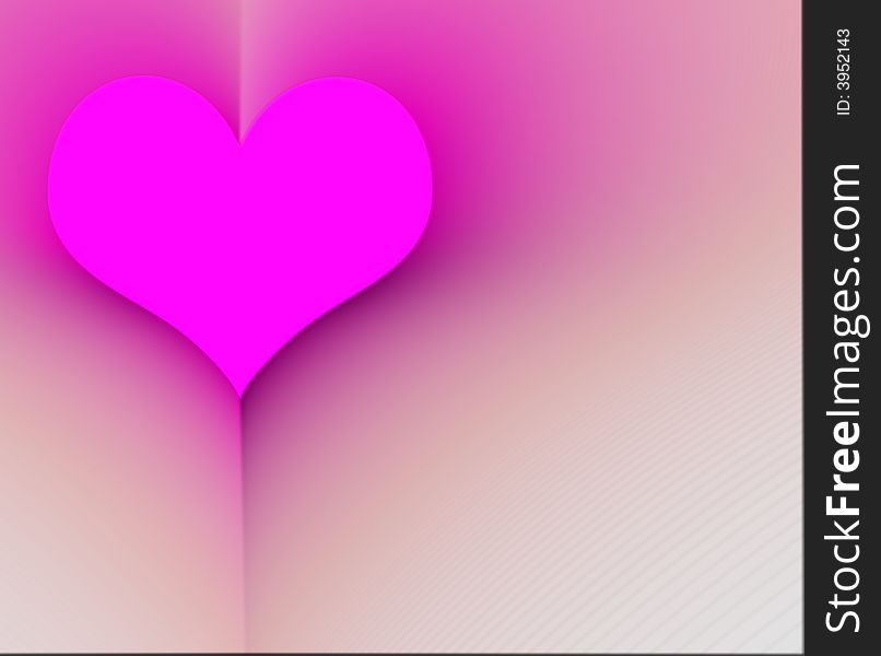 Pink heart in a book
