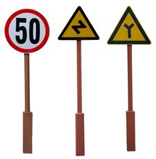 Free Three Road Sign Stock Photos - 39532143
