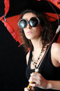 Free Girl And Umbrella Stock Image - 3963471