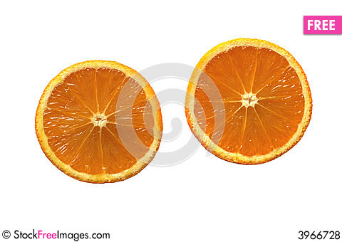 Free Two Healthy Orange Halves Royalty Free Stock Photos - 3966728