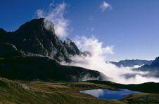 Free Rocks, Clouds And Lake Stock Image - 3960051
