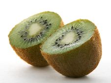 Free Two Kiwi Halves Royalty Free Stock Photos - 3960458