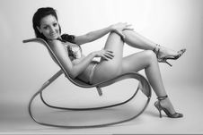 Free Beautiful Girl On A Chair Stock Photo - 3960680