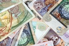 Free Uk Bank Notes Various Amounts 10 20 50 5 Royalty Free Stock Photos - 3960878