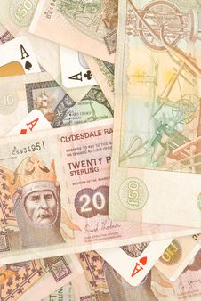 Free Scottish Cash And Cards Stock Image - 3961201