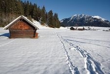 Free Bavarian Hut In Winter Stock Photography - 3963162