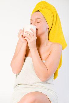 Free Welness Series With Cofee  Enjoying Stock Photos - 3963173