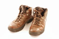 Free Well Worn Hikinig Boots Royalty Free Stock Photography - 3963327