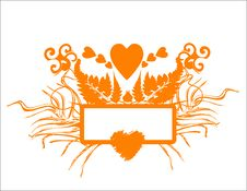 Free Banner With Hearts Royalty Free Stock Images - 3963769