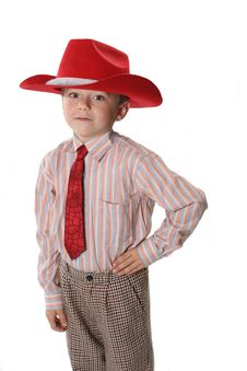 Free Boy In A Cowboy S Hat Royalty Free Stock Photos - 3965178