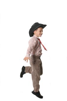 Free Boy In A Cowboy S Hat Stock Images - 3965194