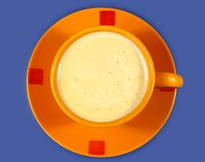 Free Black Coffee In The Orange Cup Stock Photography - 3965252