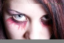 Make-up Of The Vampire Royalty Free Stock Images