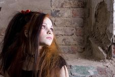 Free Attractive Girl In Gothic Style Stock Photos - 3965283