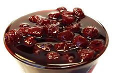 Free Cherries Jam  In The Glass Stock Photos - 3965313