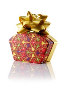 Free Fancy Gift Box With Bow Royalty Free Stock Photo - 3965595