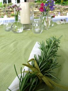 Free Place Setting With Greenery Stock Images - 3966034