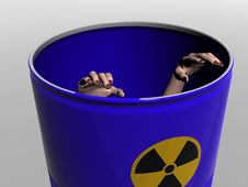 Free In A Barrel With A Radioactive Symbol Stock Photo - 3966850