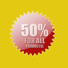 Discount For All Products Royalty Free Stock Image