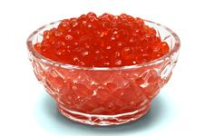 Free Crystal Dish With Red Caviar Stock Images - 3966974