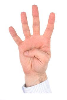 Free Hand Fingers, Number Royalty Free Stock Image - 3967536