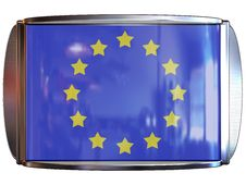 Flag To European Union Royalty Free Stock Photos