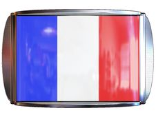 Flag To France Royalty Free Stock Photography