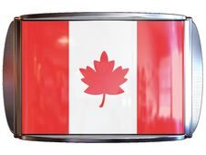 Flag To Canada Royalty Free Stock Image