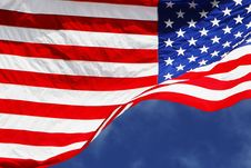 Free Flag001 Royalty Free Stock Photo - 3968105