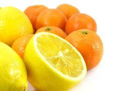 Mandarines And Lemons Royalty Free Stock Image