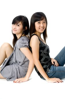 Free Sisters Sitting Royalty Free Stock Images - 3969289