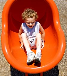 Boy On Slide Royalty Free Stock Images