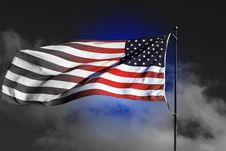 Free American Flag - Color Highligh Stock Photo - 3969790