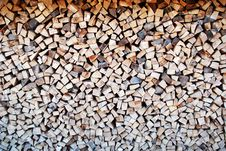 Free Firewood In Pile Stock Images - 3969944