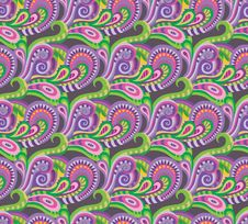 Seamless Paisley Decorative Pattern Stock Photos