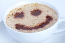 Free Smiling Cappuccino Royalty Free Stock Image - 3970596