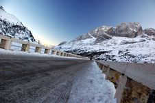 Free Iced Road - North Italy Mountains Stock Images - 3971004