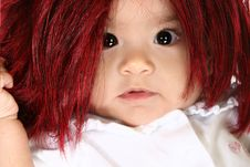 Free Baby In Wig Stock Photos - 3971773