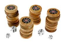 Free Backgammon Chips Royalty Free Stock Image - 3971856