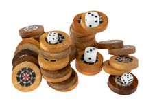 Free Backgammon Chips Royalty Free Stock Photography - 3971857