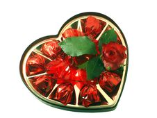 Free Candies With A Red Rose Stock Photos - 3971973