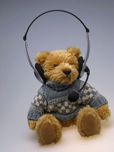 Free Toy  Bear With  Speakerphone Stock Image - 3972301