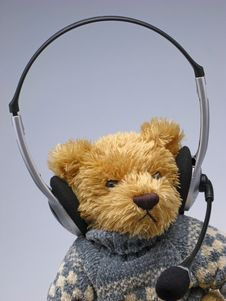 Free Toy  Bear With  Speakerphone Stock Photos - 3972303