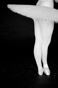 Free Ballerina In Tutu With Black Background Royalty Free Stock Image - 3972416
