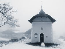 Free Church Winter Snow Royalty Free Stock Images - 3974759