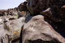 Free Coso Range Petroglyphs Royalty Free Stock Photo - 3975815