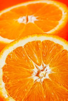 Free Two Half Oranges Stock Photos - 3975853